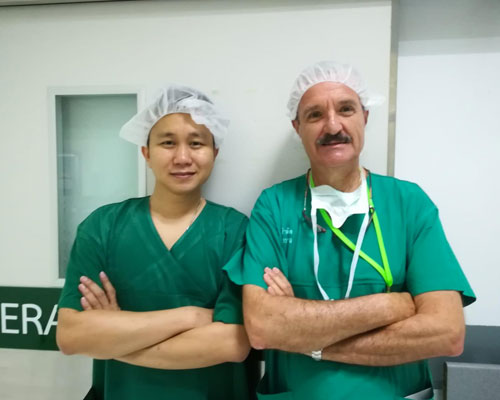 Estancia en el Hospital General de Bangkok